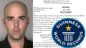 Worlds Most Litigious Man Suing Guinness Book of World Records?