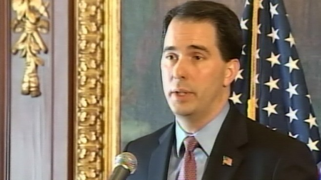 VIDEO: Gov. Scott Walker says budget proposal will save state and local employee jobs.