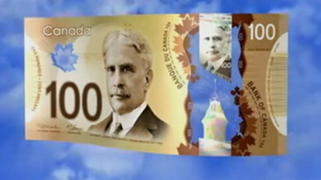 VIDEO: Bank of Canada introduced a 100-dollar bill designed to thwart counterfeiters.