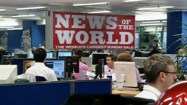 VIDEO: popular British tabloid News of the World has been accused of hacking phones.