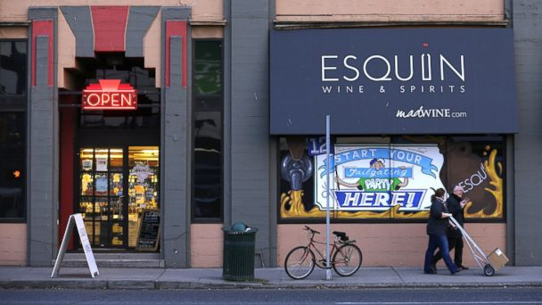 PHOTO: The Esquin Wine Merchants store is shown on Dec. 11, 2013, in Seattle where police have recovered more than 2,500 bottles of wine stolen in November, and theyre probing a possible connection to an earlier heist in San Francisco.
