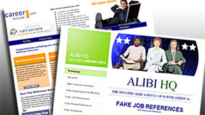 Photo: Websites provides fake employment references for job applicants
