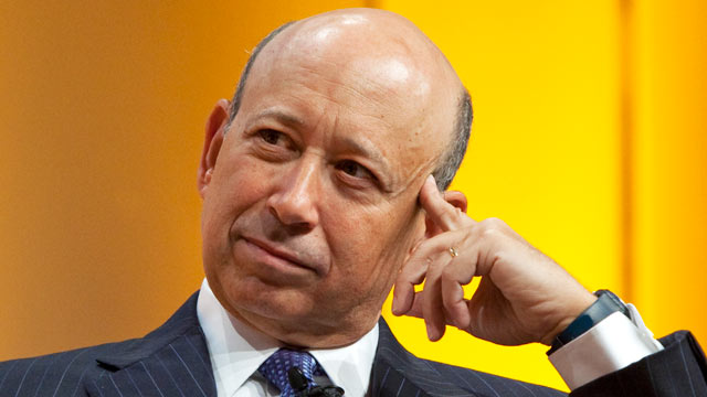 PHOTO: Lloyd Blankfein, chief executive officer of Goldman Sachs Group Inc., listens during a banking conference in Frankfurt, Germany, Sept. 9, 2009.