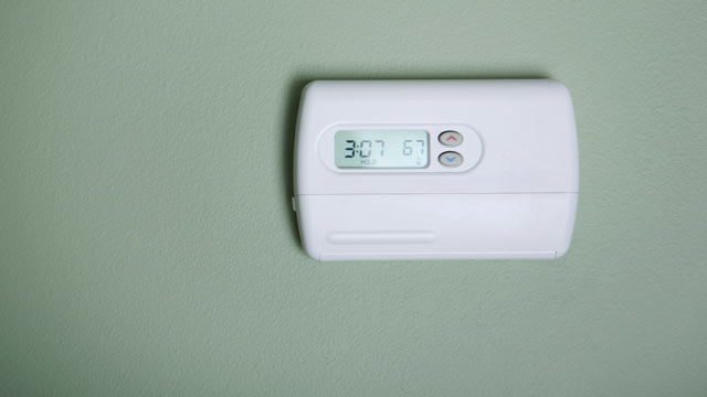 PHOTO: An air conditioner thermostat unit.
