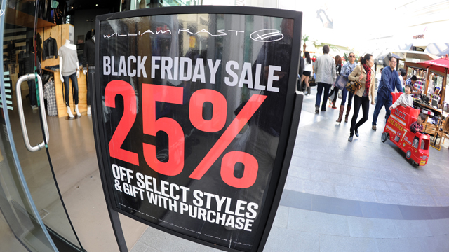 """PHOTO: People shop at the Century City shopping mall in Los Angeles, California, for the day after Thanksgiving """"Black Friday"""" sales, Nov. 26, 2010."""