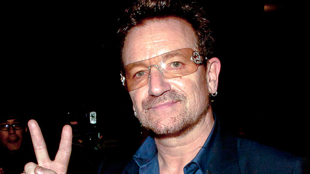 PHOTO: Bono is photographed out and about, Oct. 25, 2011 in London, England.