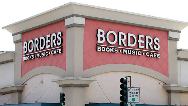 PHOTO: A sign is displayed in front of a Borders Bookstore in this July 18, 2011 file photo in San Francisco, Cali.
