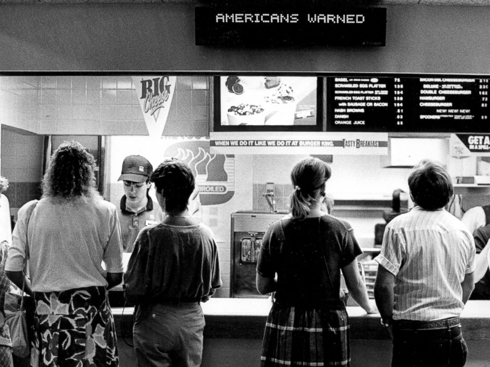 PHOTO: A Burger King in Denver, June 13, 1988.