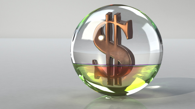 PHOTO: Crystal ball with dollar sign