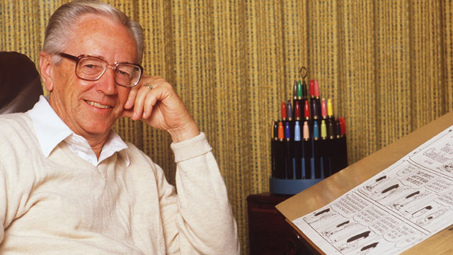 PHOTO: Charles Schulz, Creator Of The Peanuts Comic Strip, is seen May 19, 1987.