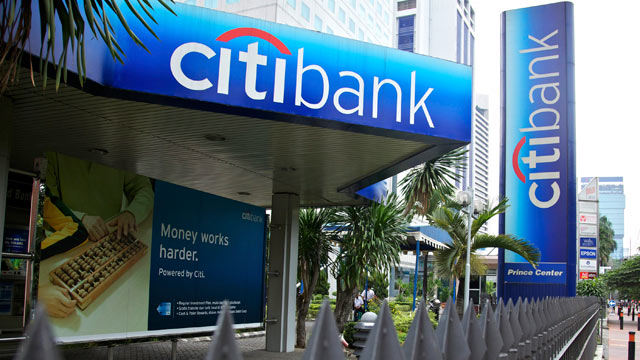 PHOTO: A sign advertising Citibank stands in the central business district in Jakarta, Indonesia, May 21, 2011.