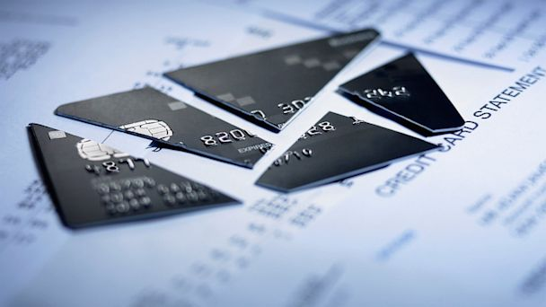PHOTO: Credit card pieces