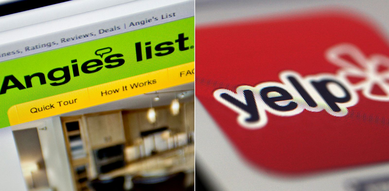 PHOTO: Angies List and Yelp are both online consumer-review sites.