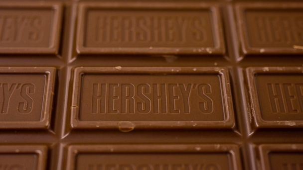 PHOTO: A Hersheys chocolate bar is displayed for a photograph in New York in this Jan. 14, 2010 file photo.