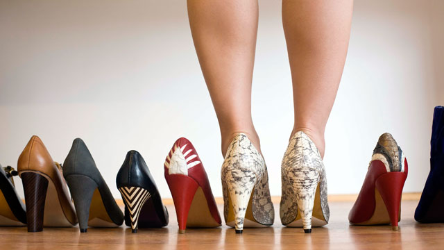 PHOTO: A look back at history reveals that high heels soared during the worst recessions.