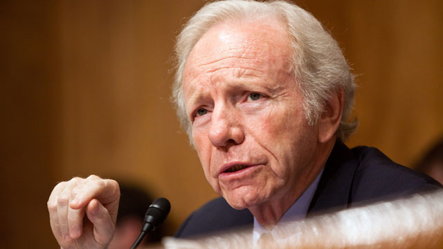PHOTO: Sen. Joseph Lieberman (I-CT) chairs a hearing on Capitol Hill on September 13, 2011 in Washington, DC.