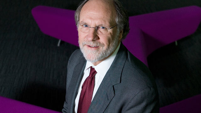 PHOTO: Jon Corzine, chairman and chief executive officer of MF Global Holdings Inc., poses for a photograph following an interview, London, U.K., April 9, 2010.