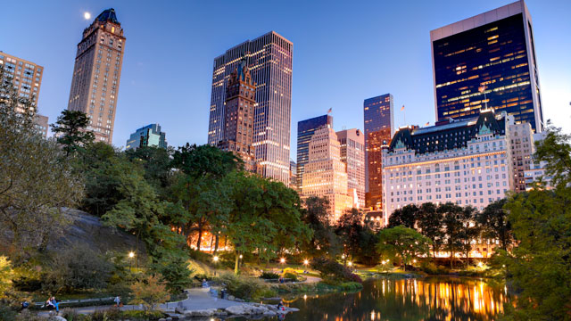 PHOTO: Midtown skyline seen from Central Park in New York City.