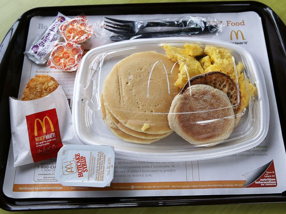 PHOTO: A McDonalds Big Breakfast is displayed at a McDonalds restaurant on July 23, 2015 in Fairfield, Calif.
