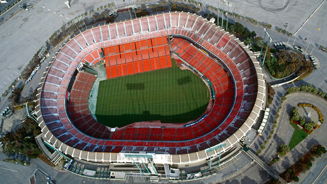 PHOTO: Candlestick Park Stadium, San Francisco, California.