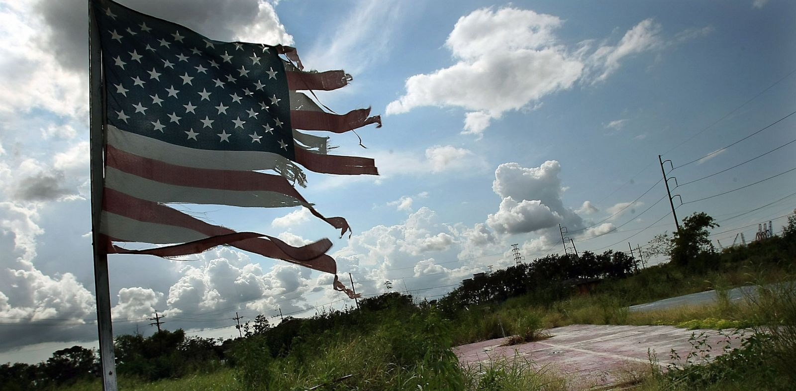 PHOTO: Tattered American flag