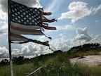PHOTO: Tattered American flag