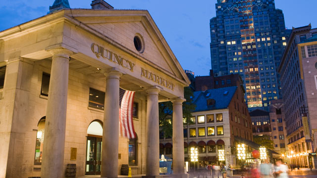PHOTO: Quincy Market is seen in the evening in this undated photo from Boston, Mass.
