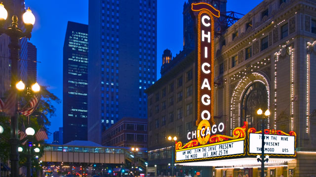 PHOTO: General view of State Street in Chicago, Illinois