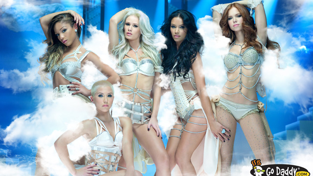 """PHOTO: Go Daddy features The Pussycat Dolls in one of two Super Bowl XLVI ads, called """"Cloud."""""""