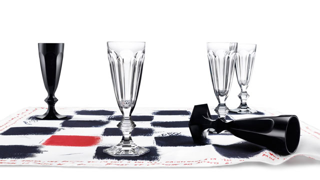 PHOTO: Baccarat Checkers Flutes