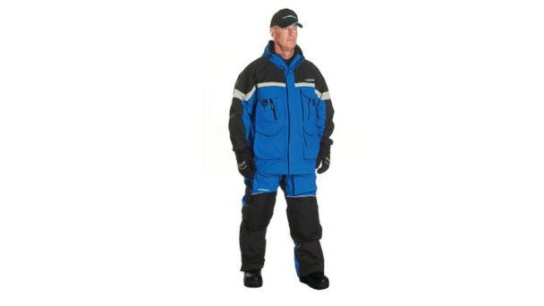 PHOTO: The Clam IceArmor Edge Cold Weather suit is seen in this undated product shut from Marine General