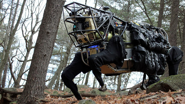 PHOTO: The genuinely terrifying LS3 robotic mule by Boston Dynamics will accompany soldiers and can carry 400 pounds of gear.