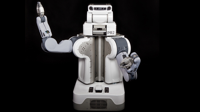 PHOTO: For $400,000 the PR2 robot by Willow Garage will fetch a beer from your refrigerator.
