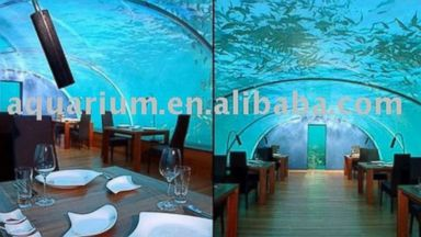 "PHOTO: ""Underwater restaurant (acrylic aquariun)"" available from Alibaba.com"