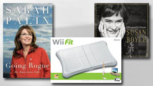 Photo: Amazons Best-Selling Items Include Nintendo Wii Fit and Susan Boyle CD: Amazon Says Its Electronic Book Reader, The Kindle, Was The Top-Selling Item of The Season