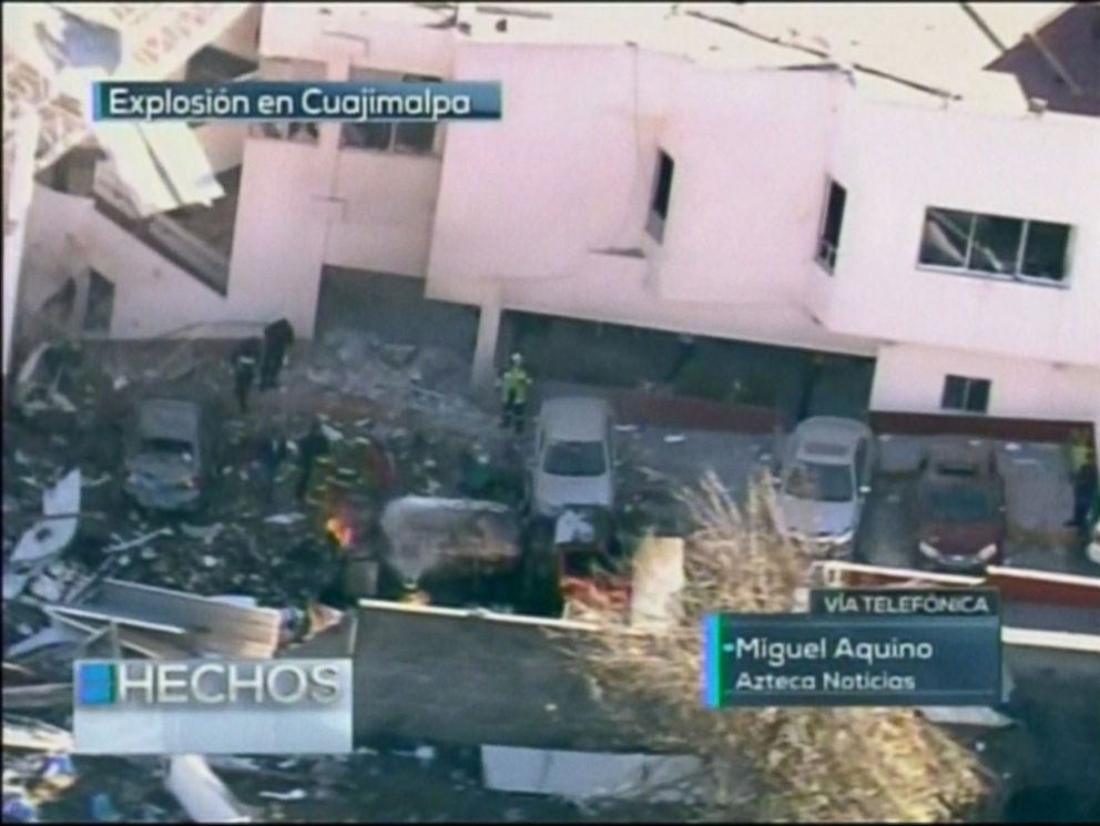 PHOTO: An explosion occurred at a childrens hospital in Mexico City, Jan. 29, 2015.