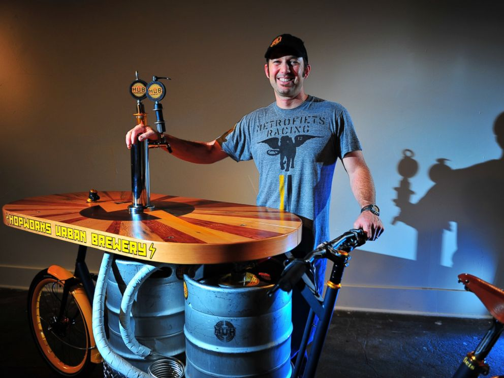 PHOTO: Cargo bike company Metrofiets built the Beer Bike for Christian Ettinger, the owner and brewmaster of Hopworks.