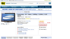 Best Buy offering a Samsung 52 inch HDTV for $9.99.