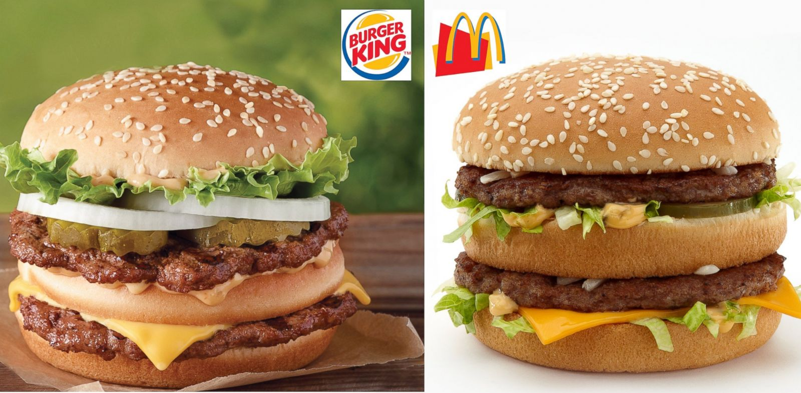 PHOTO: Burger Kings new Big King bears an uncanny resemblance to McDonalds venerable Big Mac.