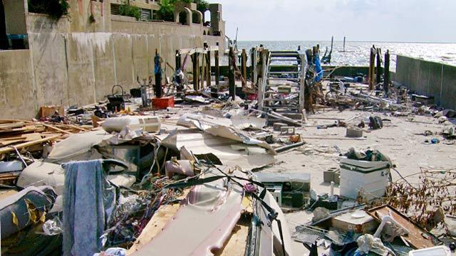 PHOTO: Brad Ganas home destroyed by Hurricane Ike