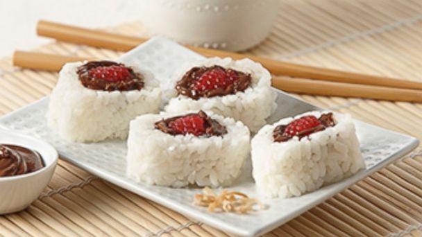 PHOTO: Breakfast sushi featuring Nutella.