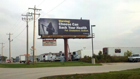 ht cheesehead billboard nt 110927 wblog The Grim Reaper Loses His Cheesehead