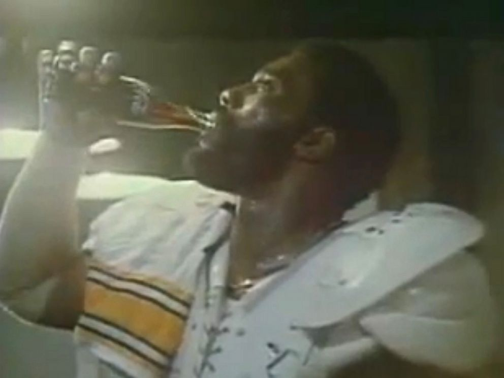 PHOTO: Coca-Colas Mean Joe Green commercial aired during the Super Bowl in 1979.