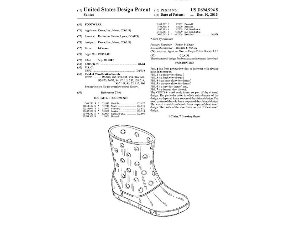 PHOTO: A new boot is being patented by Crocs.