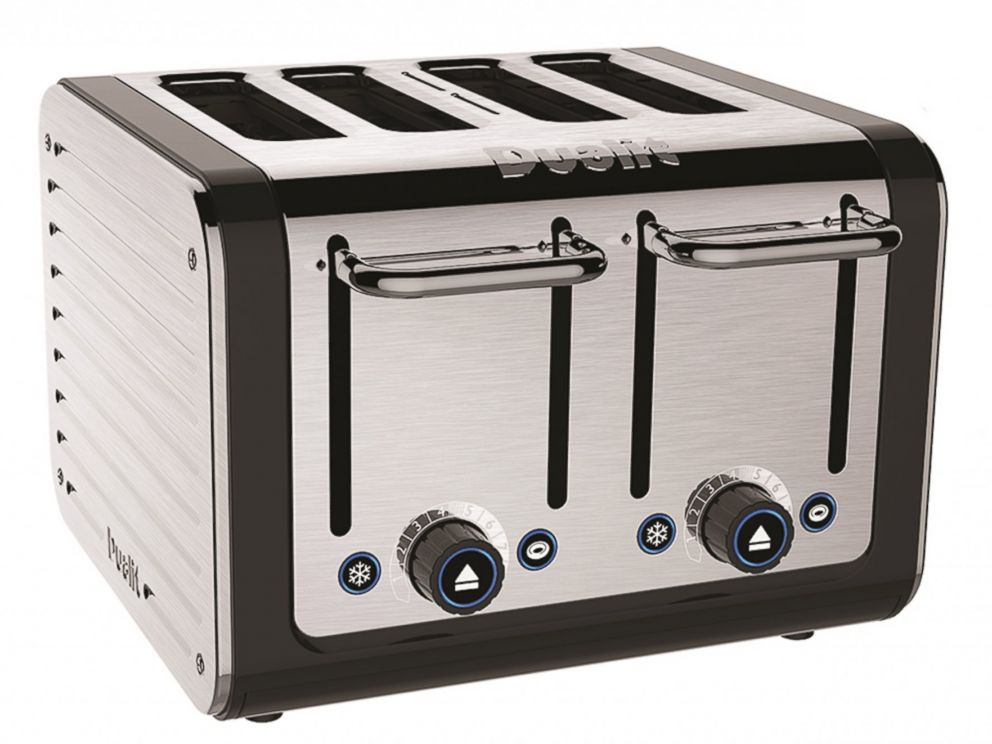 PHOTO: U.K. manufacturer Dualit says that their Brushed Architect Four-Slice Toaster uses special sensors and algorithms to make the perfect slice of toast every time.