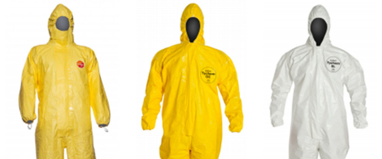 PHOTO: DuPont produces personal protective equipment, or PPEs, that are used by health workers in the Ebola crisis.
