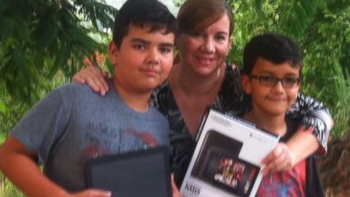 PHOTO: Mother Ada Reyes, seen her with her two sons, wrote to the ABC News Fixer to get some help with her Monster tablet.