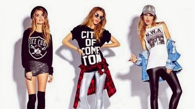 PHOTO: Forever21 posted a photo on Twitter of three models mockingly wearing t-shirts with Ice Cube, City Of Compton and NWA imprinted on the front.