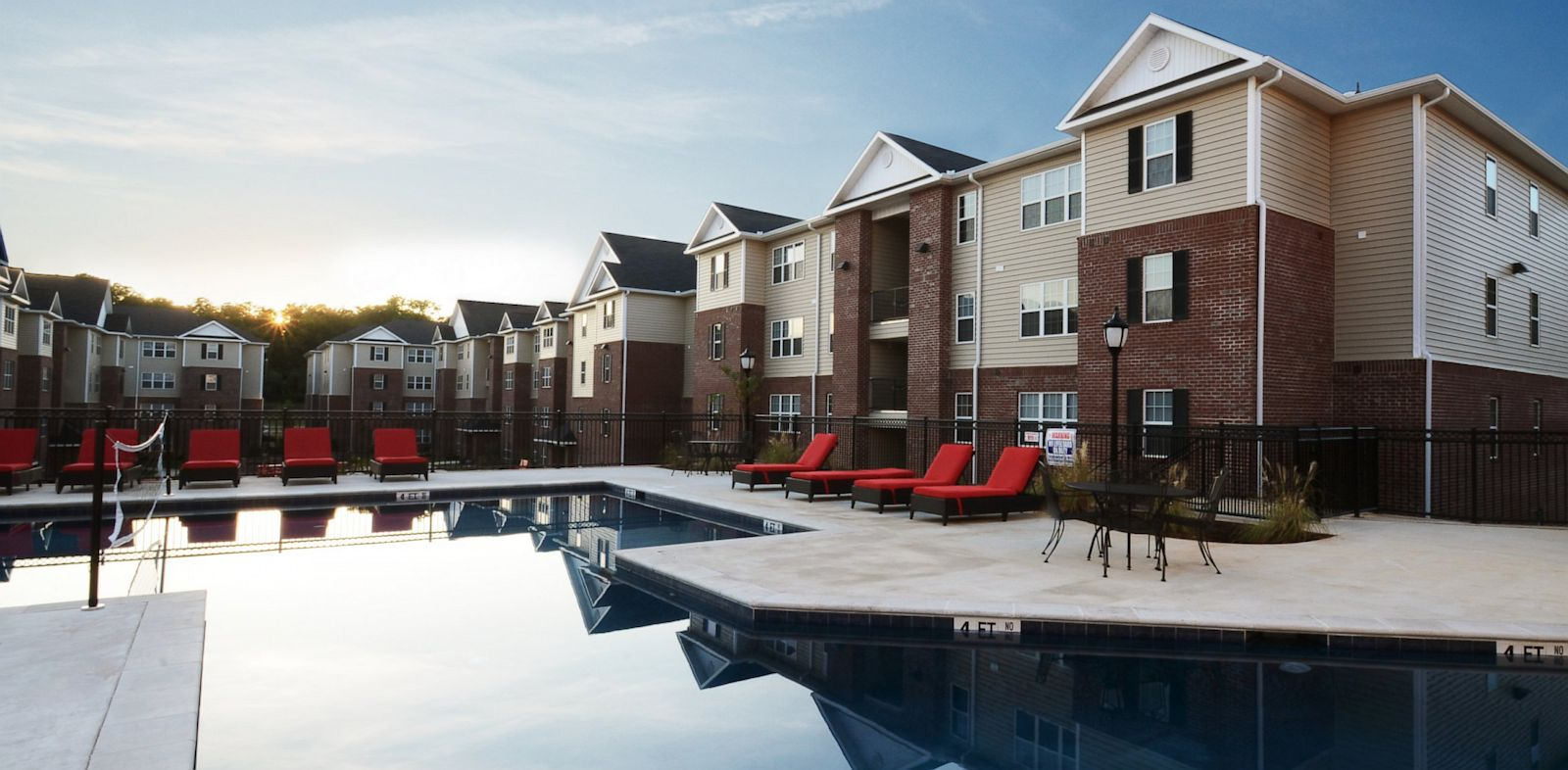 PHOTO: The pool at The Grove, an off-campus complex developed by Campus Crest for Auburn University in Auburn, Alabama.