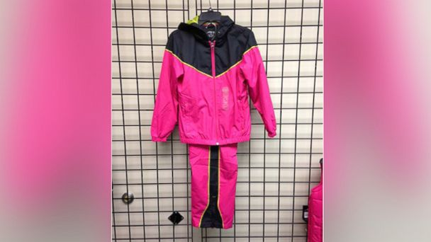 PHOTO: This Academy Sports + Outdoors Girls BCG Hooded Windsuit was recalled Dec. 5, 2013.